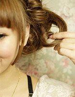 非主流的头发怎么盘图 非主流盘长头发的方法学习