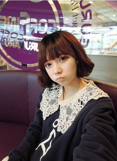 有刘海的波波头 女生刘海波波头发型