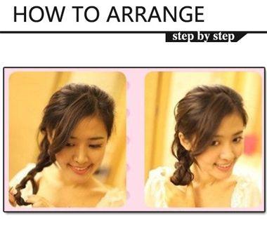 中长发马尾发型扎法步骤 简单的中长发马尾发型扎法