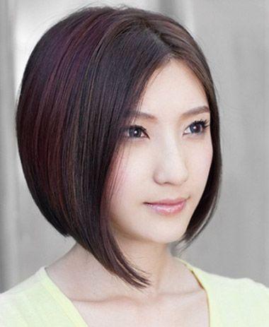 瘦脸适合剪什么样的头发 瘦脸女孩子短头发剪什么样好看图片