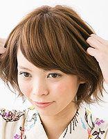 2015日系女生发型 日系短发扎发步骤