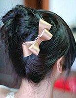 短发怎样扎包包头 短发包包头的扎法