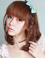 教你扎漂亮的韩式发型 短发韩式发型扎法大全