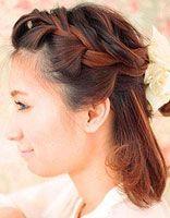 韩版发型女生中短发怎样扎 女生中短发发型扎法