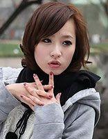 适合国字脸的中短发梨花头 国字脸适合烫梨花头的图片