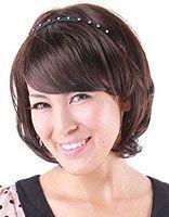 斜刘海波波头 中年波波头发型