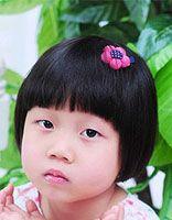 儿童蘑菇头发型图 可爱女童蘑菇发型图片