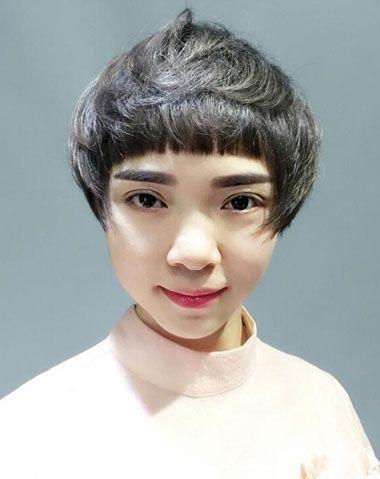 方脸女生适合什么样的蘑菇头 蘑菇头适合方脸尖下巴的图片
