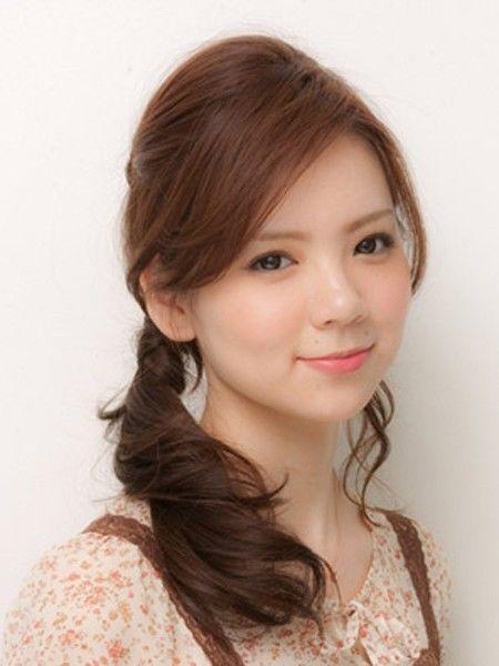 学生扎马尾刘海发型图片 扎马尾辫的刘海发型
