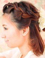 斜编制麻花发型 简单麻花辫百变发型可爱