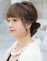 方脸新娘盘发发型 方脸适合的盘发发型