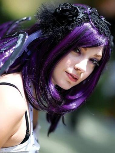 梨花头适合染什么颜色 梨花头紫色发型