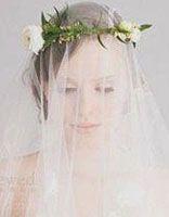 胖脸新娘头饰 胖脸适合的婚纱头型