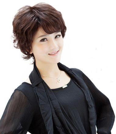 韩国中老年短发发型 老年妇女最短发型