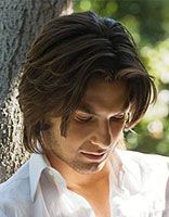 国字脸男人适合的卷发发型图 男士波波卷发发型
