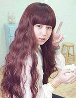 韩国女生蛋卷烫长发发型 韩国长发蛋卷头发型