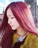 染酒红色适合哪种女性 高圆圆酒红色染发