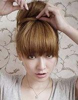 清新丸子头发型 丸子头发型扎法步骤