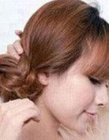 夏季简单盘发花苞头发型扎发 清新花苞头解图发型