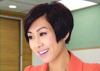 女生斜刘海直发发型 三七分斜刘海直发发型