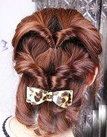 女生中长发盘发发型 简单易懂的盘发发型图解