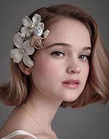 适合短发新娘的时尚发型  中短发新娘发型图片