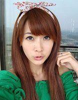 甜美女孩直发淑女发型 齐刘海直发淑女发型图片