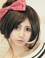 直长头发怎么盘丸子头 清新甜美的丸子头发型图片