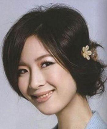 上班族时尚盘发发型 适合长脸上班族的盘发发型图片