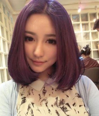 长脸女孩头发漂染什么颜色好 长脸中分发型染什么色好看