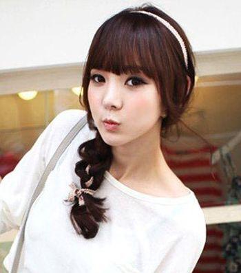 韩国女生可爱发型扎法 简单易懂的女生甜美可爱发型扎法