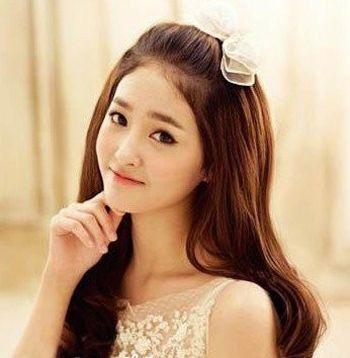 形脸盘什么样的韩式新娘发型 圆脸新娘盘头发型图片[圆脸]-韩式新娘图片