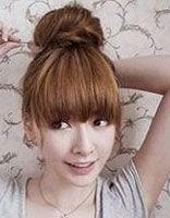 韩国发型扎法丸子头 丸子头发型扎法图解