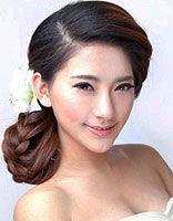 无刘海新娘发型教程 韩国新娘发型编法步骤
