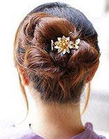 丸子头发型 日式丸子头发型步骤图