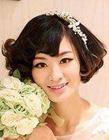 2016短发新娘发型图片 新娘发型短发