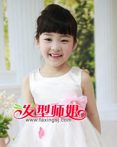 儿童公主盘发发型图集(2)
