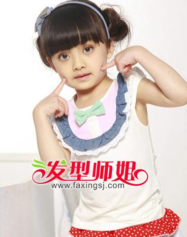 小女孩怎么盘头发 儿童公主盘发发型图集(3)