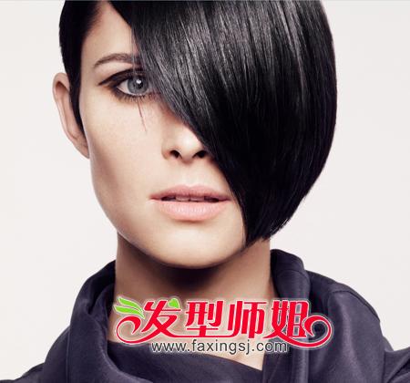 流行发型 沙宣发型 >> 2014沙宣短发新造型 黑白复古潮流展现沙宣魅力图片