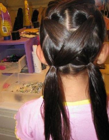 好看儿童扎发发型 如何扎出儿童扎发图片