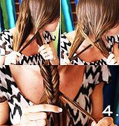 鱼尾辫的编织方法