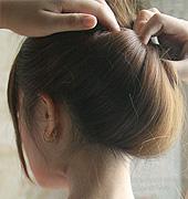 直发才能出现的唯美盘发
