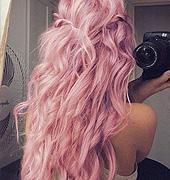 粉色的卷发 也太美了吧