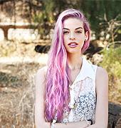 粉紫是一种很浪漫的染发颜色