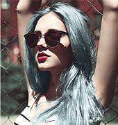 蓝灰色染发