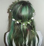 绿色波西风格染发