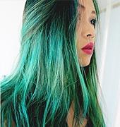 绿色滴染发