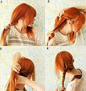 辫子盘发,不难,试试吧