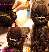 韩式 简易盘发