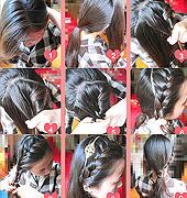韩式丸子头扎法